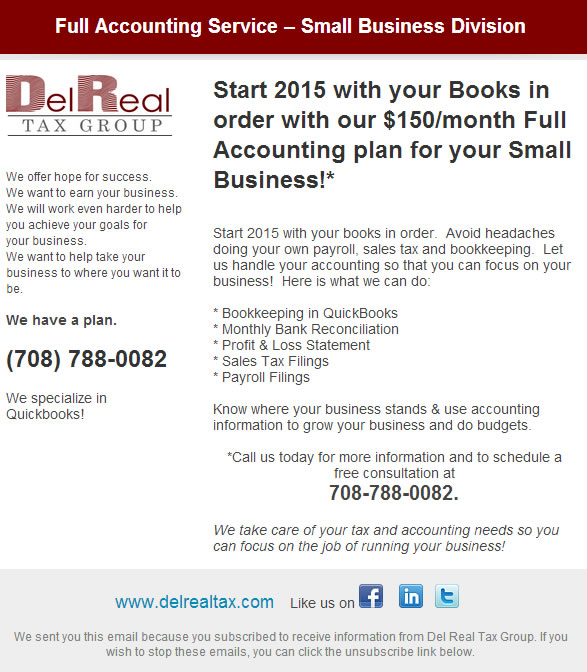 Accounting Services Plan